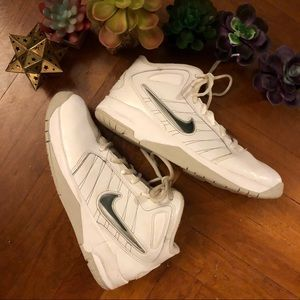 Boys white high top Nike sneakers size 7Y
